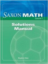 Saxon Math Course 1 Solutions Manual Grade 6 6th