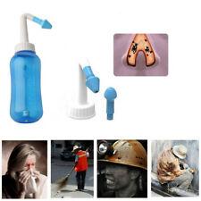 300ml lavado nasal Pro Limpiador de nariz Neti Pot Botella nariz Irrigador solución salina alérgica