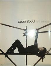 Paula Abdul Head Over Heels, Virgin promotional poster, 1995, 18x24, Ex!