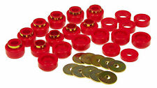 PROTHANE 87-96 Jeep Wrangler YJ Body Mount Bushings Insert Set Red 22-Piece Kit