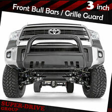 Black Front Bumper Bull Bar Grille Guards Skid Plate For 2007-2019 TOYOTA TUNDRA