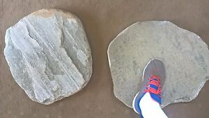 Stepping Stone bevel Green Quartzite. Real stone.