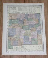 1928 ORIGINAL VINTAGE MAP OF NEW MEXICO / VERSO UTAH