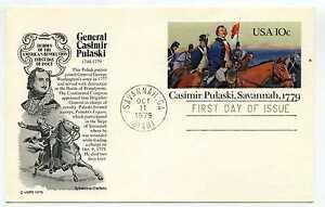 UX79 Casmir Pulaski, Savannah, 1779, Aristocrat Cachets, FDC