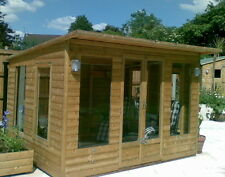 CONTEMPORARY LODGE 12X12 TANALISED 22mm LOG LAP T&G LUXURY SUMMER HOUSE