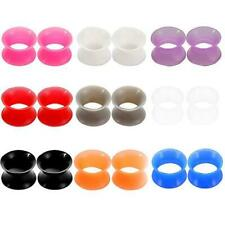 9 Pairs of 0 Gauge Soft Silicone Ear Gauges Flesh Tunnel Plugs Double Flare E555
