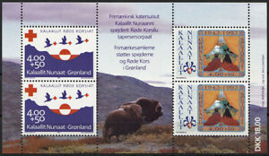 Greenland 1993 Anniversarys of Scouts and Red Cross, Minisheet UNM / MNH
