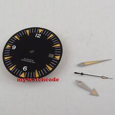 31mm black sandwich no logo Watch Dial for eta 2824 2836 Movement (dial + hands)