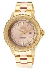 INVICTA SPORT DATE ROSE-TONE DIAL TWO-TONE ST.STEEL WR200M MEN'S WATCH 15497 NEW