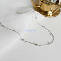 Sterling Silver Chain Anklet Ankle Bracelet Barefoot Sandal Beach Foot Jewelry
