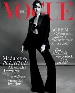 NEW AUGUST 2021 ALESSANDRA AMBROSIO VOGUE MEXICO MAGAZINE FASHION TOP MODEL