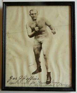 Jim James J Jeffries Vintage Boxing Photo Photograph Signed Autograph