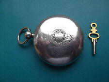 Lovely Solid Silver Rotherams Full Hunter Fusee Pocket Watch circa 1891