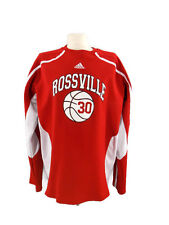 Rossville #30 Shirt Adidas Red & White Heavy Mesh Climalite Women's Size L