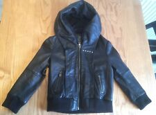 Girls Leather All Saints Biker Jacket Age 4 *only worn twice,excellent condition