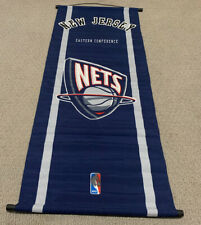 """New Jersey Nets Old Logo 2011 Eastern Conference Blue NBA 44""""x 20"""" Wall Banner"""