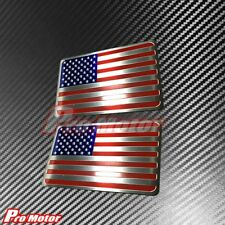 2x America United States USA Flag Aluminium Side Rear Badge Sticker Metal Emblem