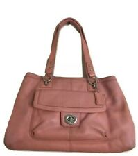 Coach Bag Pink Coral Penelope Pebbled Leather Handbag Carryall Purse