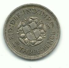 A VINTAGE VERY NICE 1937 GREAT BRITAIN 3 PENCE SILVER COIN-DEC298