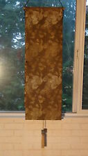 ANTIQUE MEIJI JAPANESE ART SILK KIMONO GOLDEN PEACKOKS &CLOISONE CILINDER WEIGHT