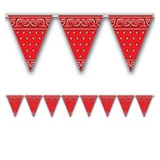 COWBOY WESTERN SQUARE DANCE PARTY BUNTING FLAG BANNER FOR BIRTHDAY PARTIES!