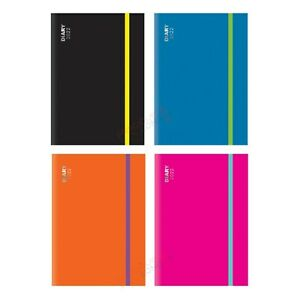 A5 Week To View 2022 Diary Full Year Hardback Cover With Elastic Closure UK