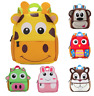 NEW Cute Kids Toddler Backpack Kindergarten School bag 3D Cartoon Animal Kid Bag