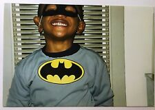 Vintage PHOTO Boy Wearing Batman Halloween Costume