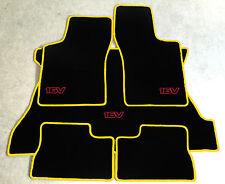 Autoteppich Kofferraum Set für Opel Kadett E Cabrio 16V  gelb rot Neu 5teilig