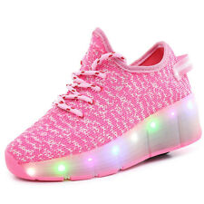 Kids Roller Shoes Boys Girls Sports Heelys Wheels Skate LED Light Trainers Gifts