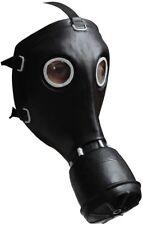Black Gas Mask Costume Accessory Latex Scary Chemical Warfare Mad Max