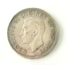 1947 George VI 1 Dollar CAN • Pointed 7 • CCCS Grade EF-40