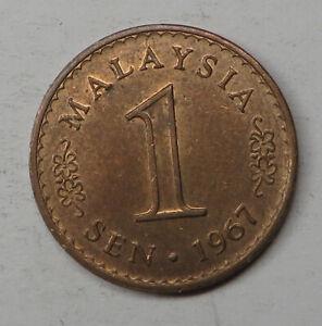 Malaysia Sen 1967 Bronze KM#1 UNC