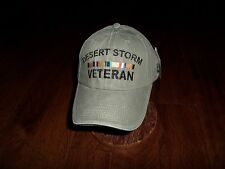 NEW U.S MILITARY DESERT STORM VETERAN HAT ARMY MARINE CORPS STONE WASHED
