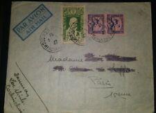 Enveloppe Cover Indochine 1947/3 timbre lettre oblit. Saïgon Cochinchine / Paris
