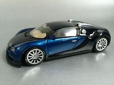 """Bugatti Veyron EB 16.4 (Autoart 1:43) """"MOSTRA AUTO"""" BLU NERO (NUOVO) nella casella del concessionario"""
