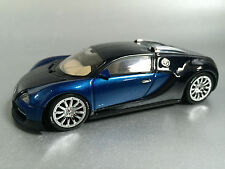 "Bugatti Veyron EB 16.4 (AutoArt 1:43) ""Show Car"" Blue Black (New) In Dealer Box"