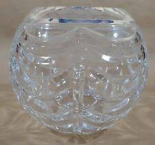 """Tiffany & Company Crystal Globe vase web pattern sign Tiffany 5.25""""h by 6""""  mAAW"""