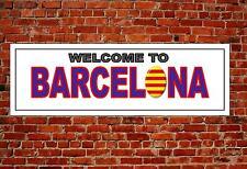 Barcelona Metal Sign Reproduction Town Name Wall Hanging Door Plaque