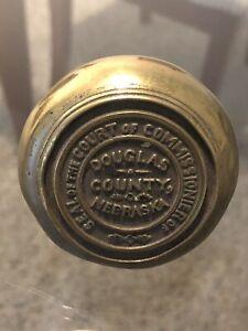 Antique Brass Door Knob Douglas County Nebraska Commissioner Court House?
