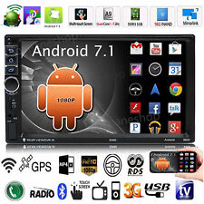 "Quad Core Android 7.1 3G WIFI 7 ""Doble 2DIN Car Radio estéreo MP5 MP3 GPS Player"