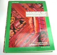 Manual of Mineralogy After Dane by Cornelius Hurlbut 21st Edition Used Textbook