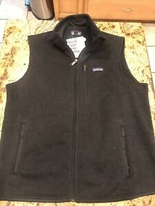 Patagonia New Men's Better Sweater Vest Navy Charcoal Black Size Large
