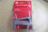 Gardner Bender GSE-402, #4/0 Service Entrance Staples, pkg of 2