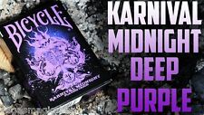 Karnival Midnight Purple Deck Bicycle Playing Cards Poker Size USPCC Limited New