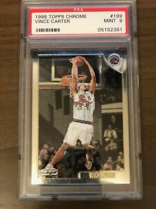 1998-99 Topps Chrome Vince Carter Rookie #199 PSA 9