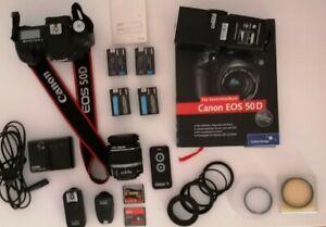 Canon EOS 50D 15.1MP Digitalkamera Gehäuse + Mega Zubehörpaket!!!