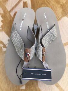 Tommy Hilfiger Flip Flops Sandal UK 5 Grey New