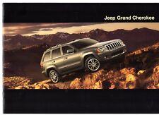 Jeep Grand Cherokee 2009 UK Market Sales Brochure Limited Overland SRT-8
