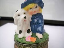 "TRINKET BOX ""LITTLE GIRL WITH DOG"""